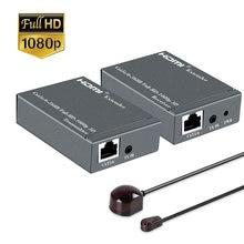 60 м hd 1080p hdmi усилитель сигнала удлинитель rj45 1x1 разветвитель