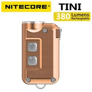 Image 2 - 2018 nowy Nitecore TINI 380 lumenów micro usb charging Mini metaliczny breloczek latarka