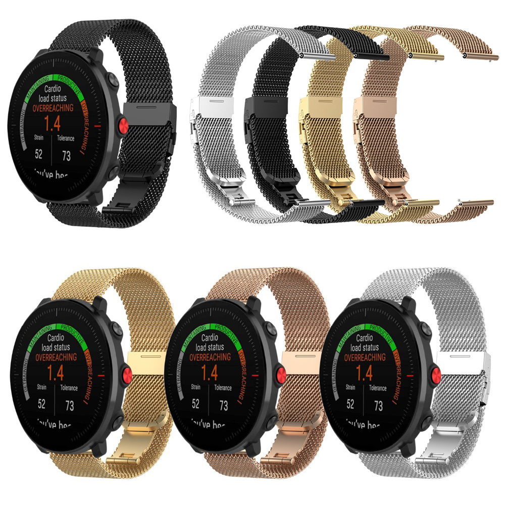 Metal Milanese Band For POLAR Vantage M Wrist Strap For POLAR IGNITE Smartwatch Stainless Steel Bracelet Watchband 4 Colors