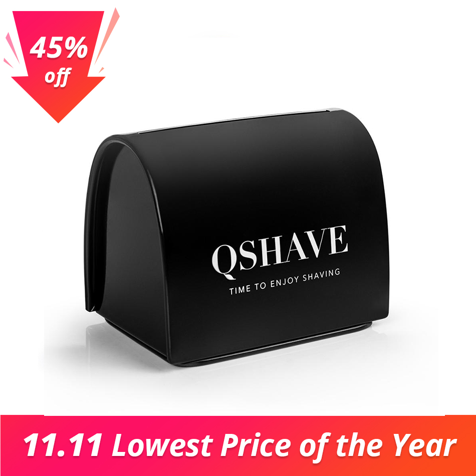 QSHAVE Blade Disposal Case Safe Storage Bank for Used Safety Razor Blades Household Guard