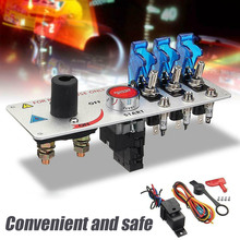 DC 12V 30A Engine Start Push Switch Racing Car Auto LED Toggle Ignition Panel Set with Screws