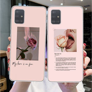 Phone Case For Samsungs Galaxys A10 A30 A50 A70 2019 A51 A71 A6 A750 A8 Plus Aesthetics songs lyrics Aesthetic silicone Cover