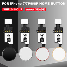 New 3rd YF Universal Home Button Flex Cable for iPhone 7 7plus 8 8 Plus return key only rear function and screenshot no touch ID(China)