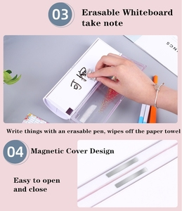 Image 4 - New Design Pencil Case School Supplies Pretty Flowing Sand Creative Kawaii Pencil Box Multifunction Pen Holder for Kids Gift