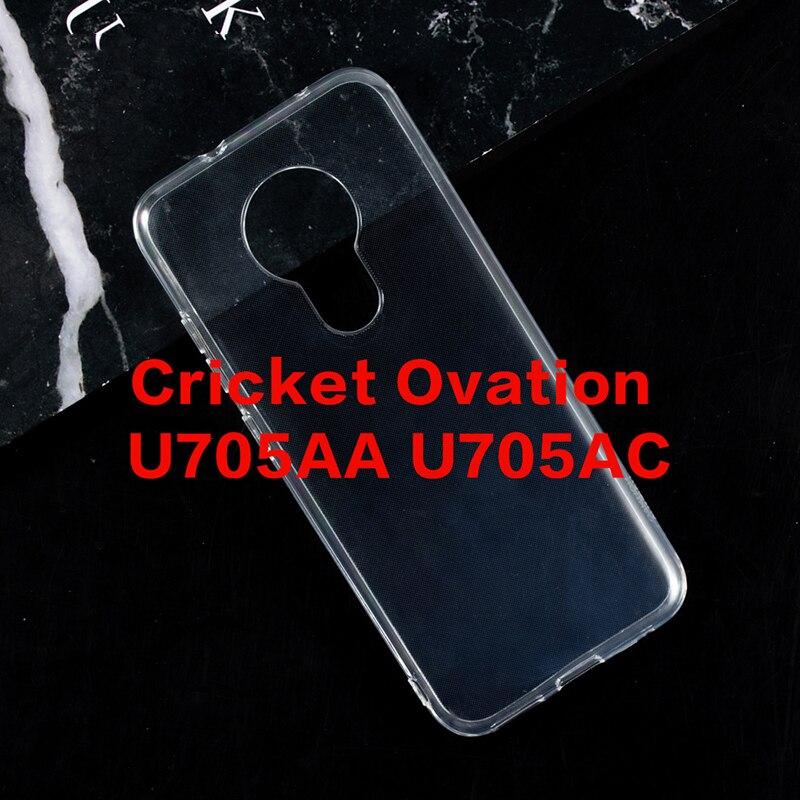 Caso de Telefone transparente Para O Grilo Ovação U705AA U705AC Gel Pudim Silicone Caso Escudo Do Telefone Para O Grilo Ovação Tampa Traseira