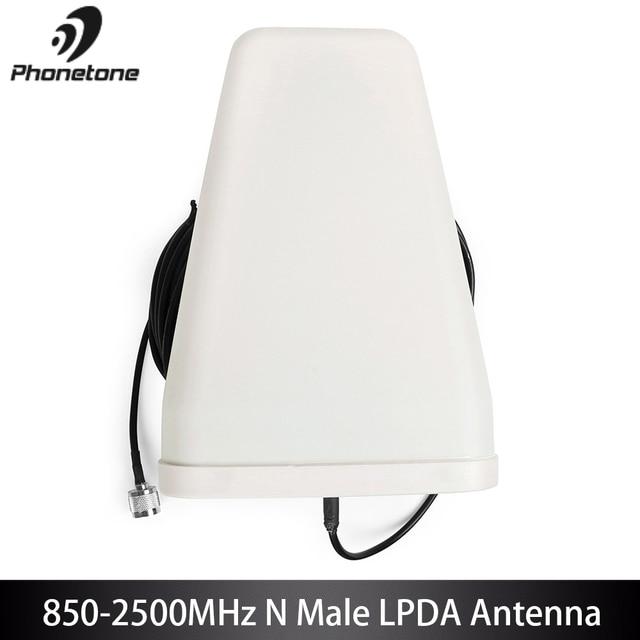800 2500MHz Esterna LPDA Antenna Per Cell Phone Signal Booster Amplificatore 10dbi GSM 3G Direzionale LTE & 10m Cavo N Maschio Connettore