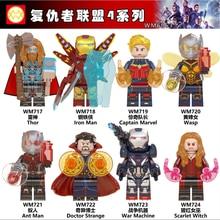 WM6063 Avengers Endgame Iron Man Thor Captain Marvel Ant Wasp Doctor Strange War Machine Scarlet Witch Building Blocks Toys