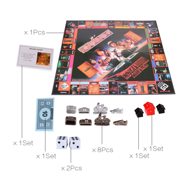 Étranger choses Monopoli jeu de société divertissement carte jeu Puzzle famille jeu pour enfants - 4