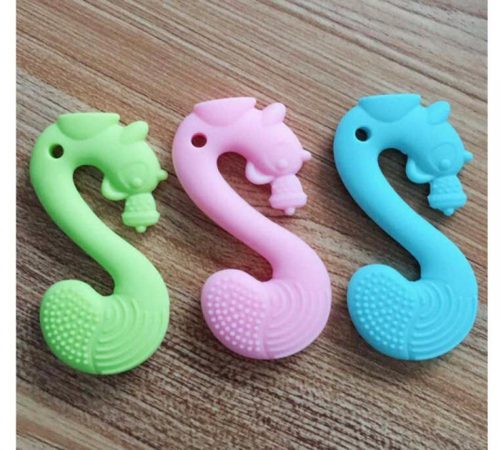 Cartoon Squirrel Silicone Gum Biting Gum Cartoon Squirrel Silicones Teether Safe Baby Silicone Gum Multicolor Baby Molar