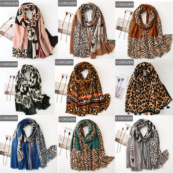 Visrover Tropical Natural Animal Leopard Beach Scarves Big Shawl Printing Scarf Hijab Women Scarfs Fashion For Summer Wholesales - discount item  75% OFF Scarves & Wraps