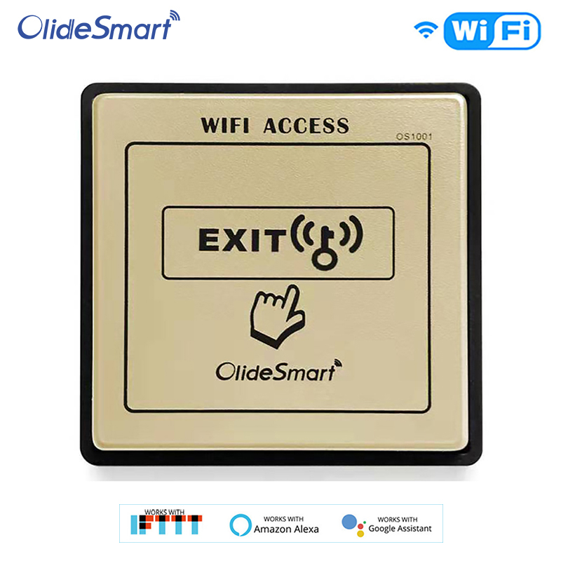 Smart WIFI Exit Button Workable With Olide Automatic Door Opener Phone APP Control Alex Google Assistance