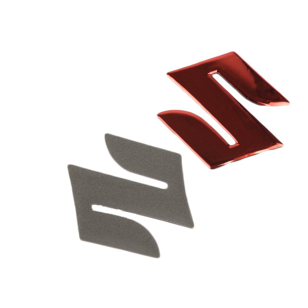 Motorcycle Logo Sticker 3D Motorcycle Body Trunk Decor Plating Emblem Badge Decal Tank Wheel Logo S Sticker Protector Cover Paster Color : Red