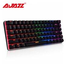 Ajazz AK33 82 ключи механической клавиатуры проводной/беспроводной Русский/Английский Подсветки RGB/1 цвет игровой клавиатурой с подсветкой