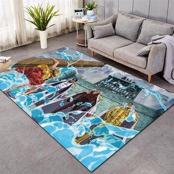One Piece Shaggy Fluffy Anti-Skid Area Floor Mat 3D Rug Non-slip Mat Dining Room Living Room Soft Child Bedroom Mat Carpet 03