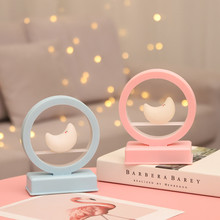 Creative Cute Romantic Pink Blue Music Atmosphere Night Light Moon Music Nght light Childrens Birthday Gift Decoration Lights