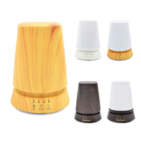 DEKAXI 350ml Wood table lamp Aroma Essential Oil Diffuser Ultrasonic Air Humidifier Electric Aroma Diffuser 100v-240v Home-Wood