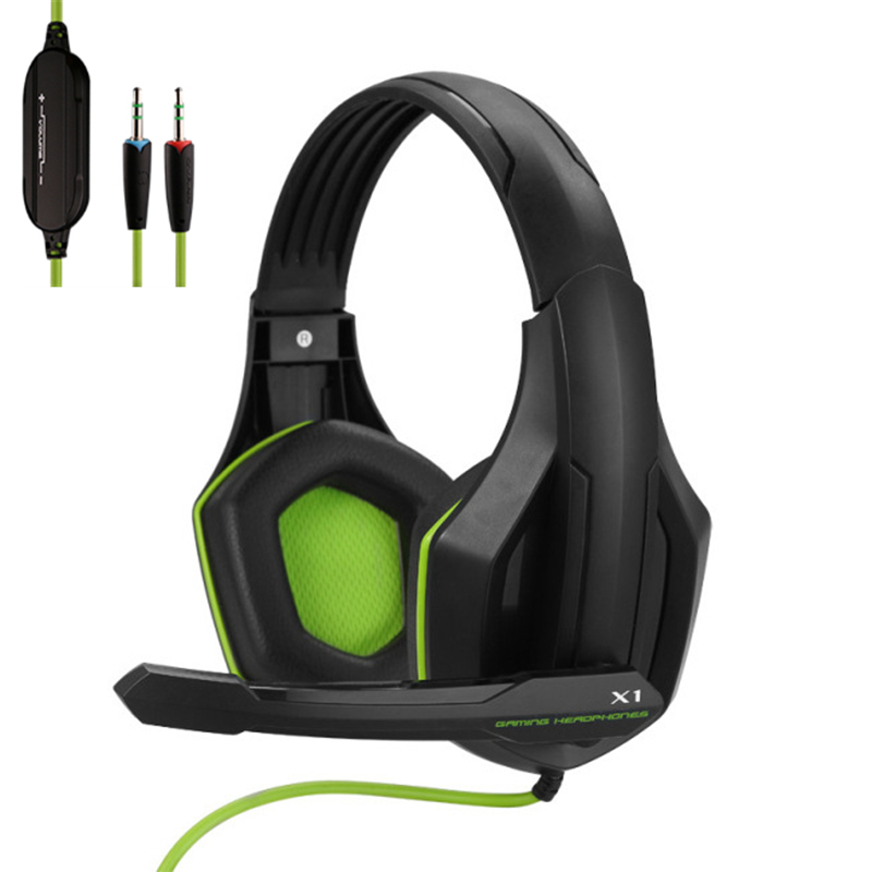 Professional Gamer Headphone Super Bass Over-ear Computer Gaming Headset with Microphone Stereo Wired Headphones for PC PS4 Xbox