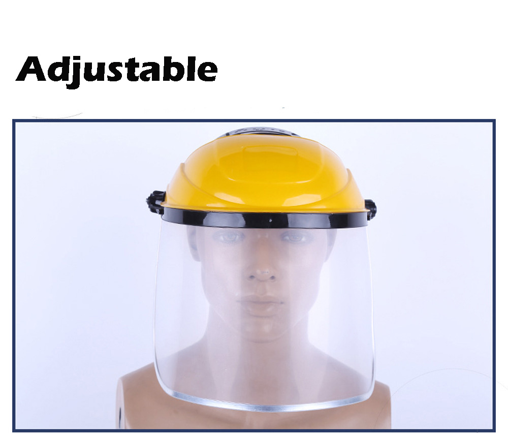 1 Piece Clear Safety Protective Cover Head-mounted Face Eye Shield Screen Grinding Full Face Protection