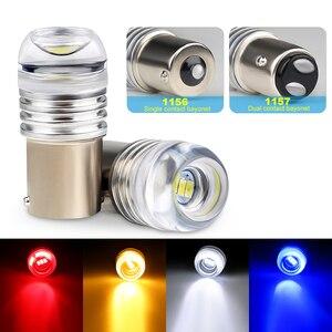 1 шт автомобильные светодиоды 1156 1157 3W 5730 вогнутые зеркала 4 цвета 12V P21W Автомобильные тормоза/поворота Автомобильные стояночные огни декорат...