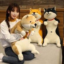 120 cm adorável shiba inu & gato brinquedos de pelúcia longo animal cão & gato travesseiro brinquedo de pelúcia para crianças bebê sono almofada presente de aniversário