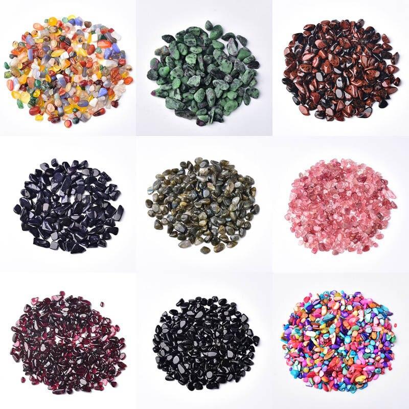 100g 4 tamanhos vários estilos natural misturado pedra de cristal quartzo rocha cascalho espécime tanque decoração pedras naturais e minerais
