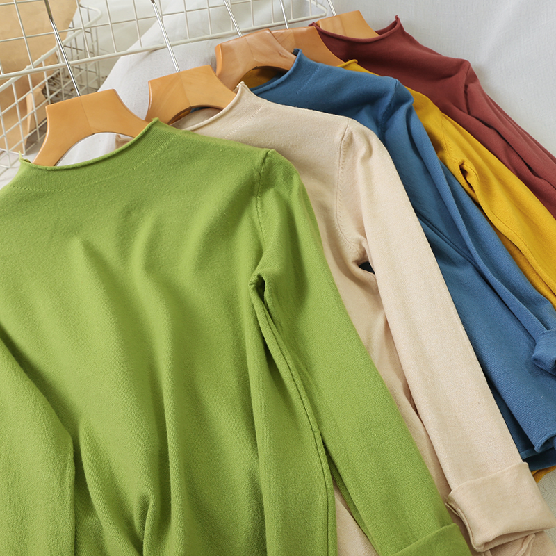 Heliar Women Spring Loose Sweater Female Long Sleeve Round Neck Sweater Autumn Winter Underwear Elastic Knitting Pullovers 2019