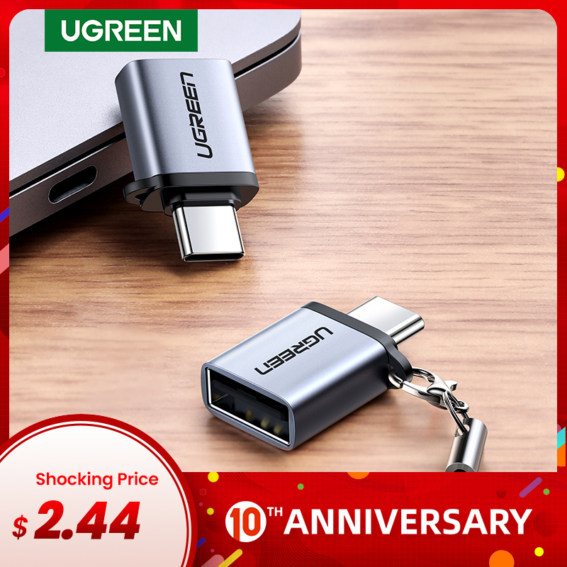 Ugreen USB C Adapter Type C To USB 3.0 Adapter Thunderbolt 3 Type-C Adapter OTG Cable For Macbook Pro Air Samsung S10 S9 USB OTG
