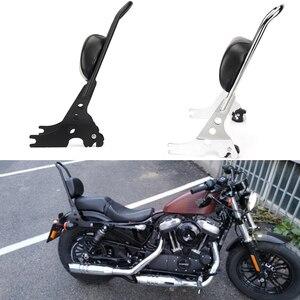 Image 5 - Porte bagages, barre Sissy, coussin de dossier de passager arrière, pour moto Sportster, XL883, XL1200 XL 883 1200, noir et Chrome
