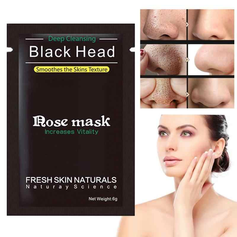 1/5/10pcs Blackhead Removal Bamboo Charcoal Peel Off Black Mask Deep Cleaning Nose TSLM1
