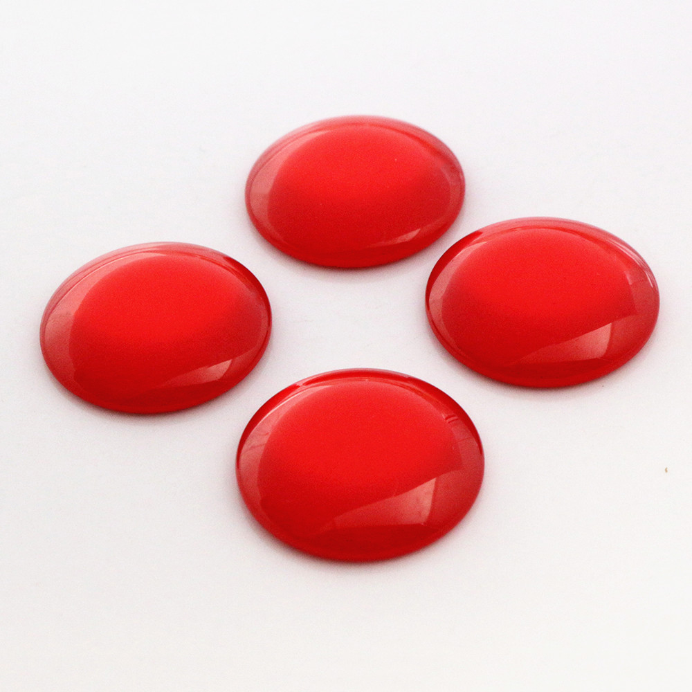 New Fashion 10pcs 25mm  Red Color  Flat Back Resin Cabochons Cameo  G3-18