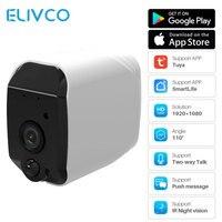 Kamera IP WiFi Outdoor 1080P Tuya SmartLife kontrola aplikacji zasilany z baterii dwukierunkowy dźwięk bezpieczeństwo w domu Monitor kamery IP65 wodoodporny w Kamery nadzoru od Bezpieczeństwo i ochrona na