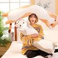 Хит продаж  длинная Милая подушка для кошки  милые плюшевые игрушки в подарок на день рождения  подушка для опираясь на