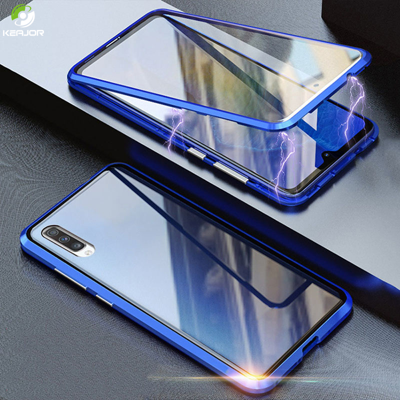 Magnetic <font><b>Case</b></font> For <font><b>Samsung</b></font> Galaxy A40 A70 <font><b>Case</b></font> Shockproof Bumper Double Side Tempered <font><b>Glass</b></font> Metal Cover For <font><b>Samsung</b></font> <font><b>A</b></font> 40 <font><b>70</b></font> <font><b>Case</b></font> image
