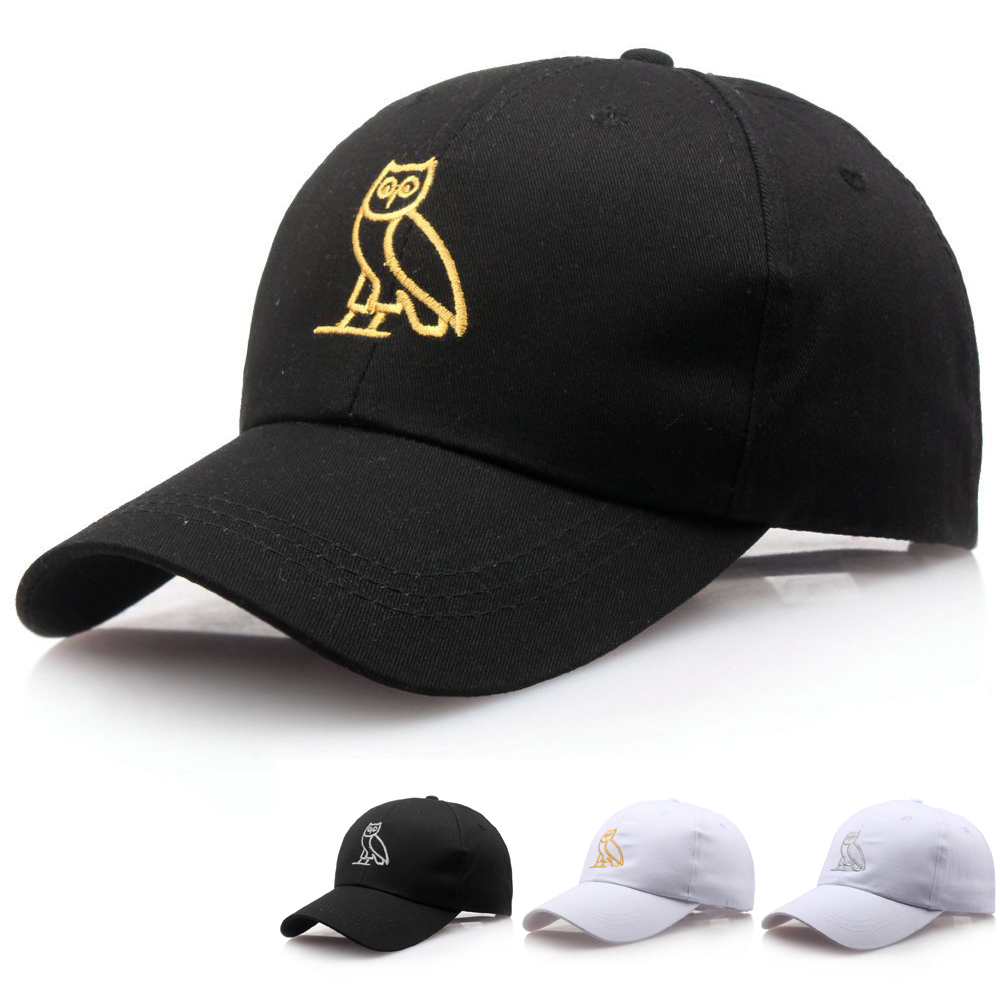 New Men Baseball Cap Drake Owl Embroidery Mens Baseball Hat Women Baseball Cap Snapback Hat Peaked Hip Hop Outdoor Sports Hat
