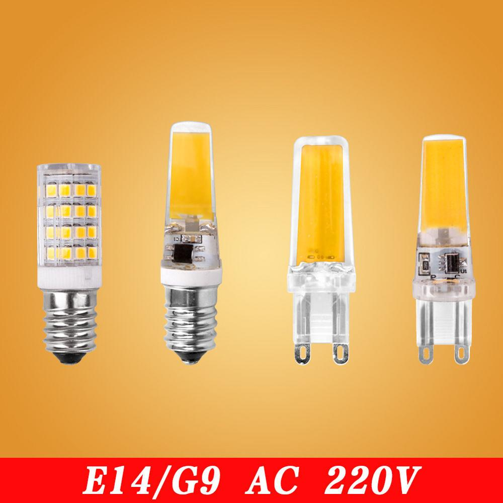 G4 G9 <font><b>E14</b></font> <font><b>Led</b></font> Lamps <font><b>1.5W</b></font> 3W 5W 6W <font><b>Led</b></font> Bulb AC/DC COB Crystal Chandelier Light Bright Ampoule Spotlight Replace Halogen Lighting image