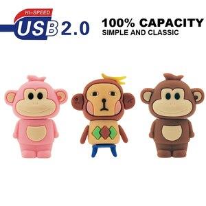 Image 5 - Clé usb 2.0 pour animaux mignons, 32 go, 64 go, 128 mo, clé usb pour photographie, disque U, dessin animé
