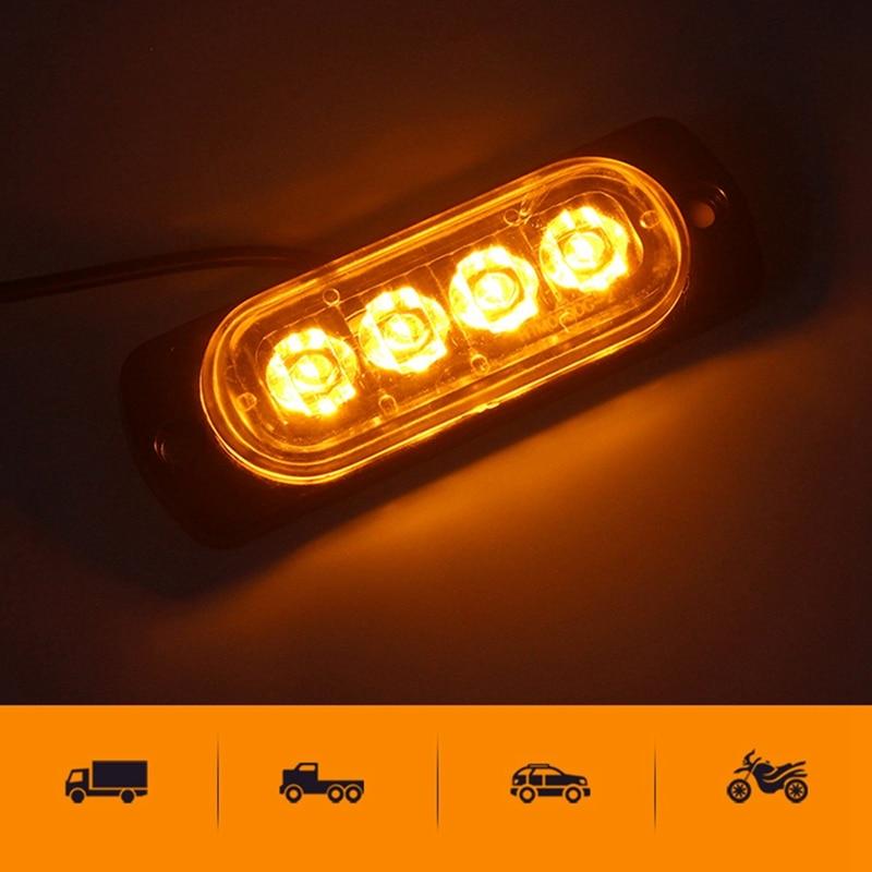 Warning Flash Amber Light Car Truck Beacon Strobe Emergency LED Lamp 15 LED 12V