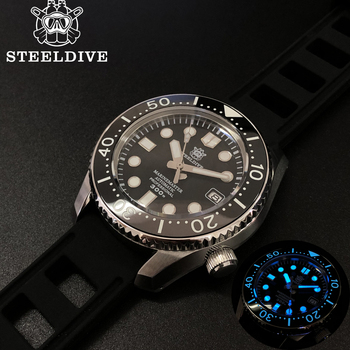 Steeldive 1968 300m Dive Mechanical Watch Men Mechanical Watches C3 Luminous Stainless Steel Dive Watches For Men NH35 Sapphire цена 2017