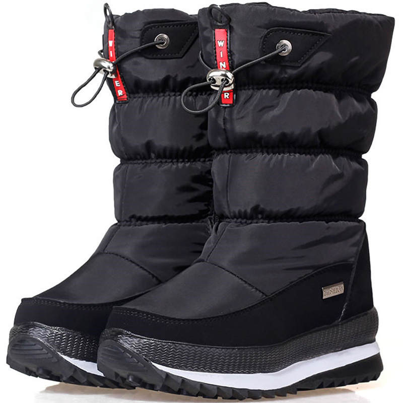 Women Boots Waterproof Winter Shoes Women Snow Boots Platform Keep Warm Winter Girl Boots With Thick Fur Heels Botas Mujer