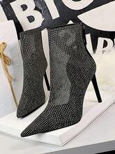 Женская обувь короткие сетка ботинки супер высокие тонкие каблуки