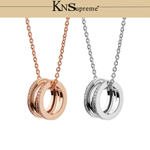 KN Bulgaria necklace Zircon 1:1 Original 100% 925 Sterling Silver Women Free Shipping Jewelry High-end Quality Gift Have logo