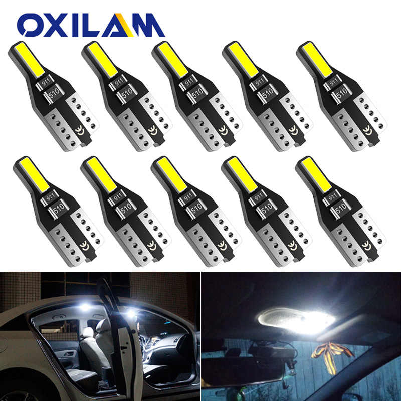 10x t10 led w5w 194 luzes do carro para honda civic accord crv hrv jazz ajuste nc750x auto led interior luz tronco lâmpada xenon 6000 k 12v