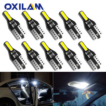 10x T10 LED W5W 194 Car Lights for Honda Civic Accord CRV HRV Jazz Fit NC750X Auto Led Interior Light Trunk Lamp Xenon 6000K 12v cheap OXILAM Interior Lighting 120LM T10 (W5W 194) Nissan W5W LED Bulb T10 interior reading doom light trunk lamp glove light car door light