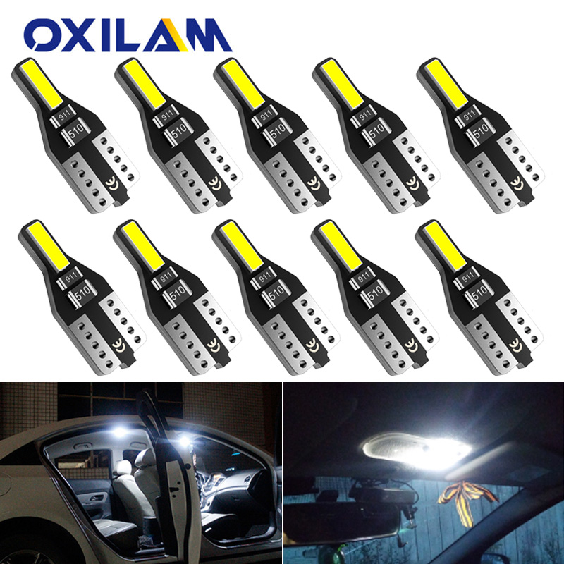 10x W5W LED T10 194 Car Lights For Nissan Qashqai Leaf X Trail Note Tiida Auto Led Interior Light Trunk Lamp Xenon 6000K 12v