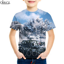 Детские футболки cloocl с принтом world of tanks для мальчиков