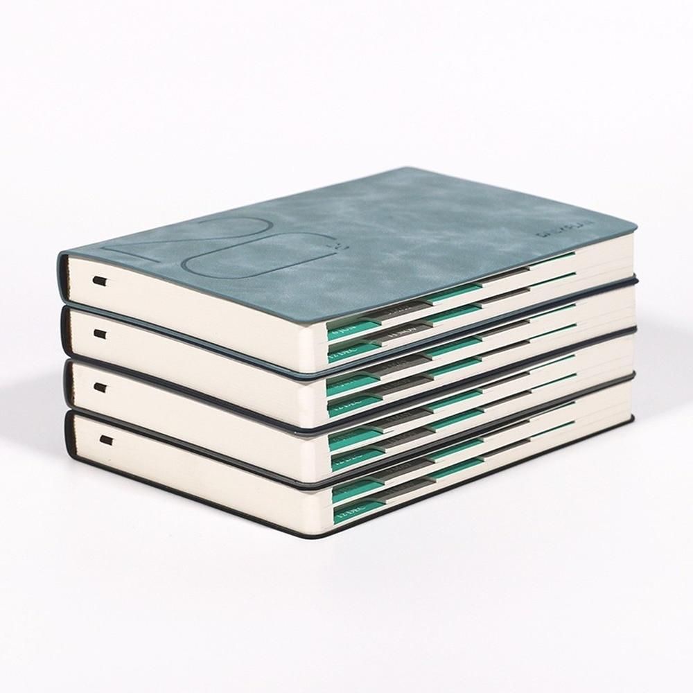 New Fashion Agenda 2020 Thicken Notebook A5  Soft Planner 2020 Jan-Dec Efficiency Journal English Language 400page