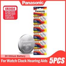 5 шт. Panasonic батареи таблеточного типа CR2450 CR 2450 BR2450 KCR2450 5029LC LM2450 для часы электронные игрушечные весы 3V литиевая Батарея