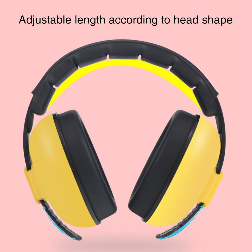 Safety Kids Adjustable Slow Rebound Noise Cancelling Ear Hearing Protection Sleep Concert Durable Ergonomic Baby Earmuffs Sound