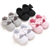 Meninas do bebê primeiros caminhantes sapatos recém-nascidos bonito bowknot infantil prewalker fundo macio anti deslizamento da criança meninas princesa sapatos