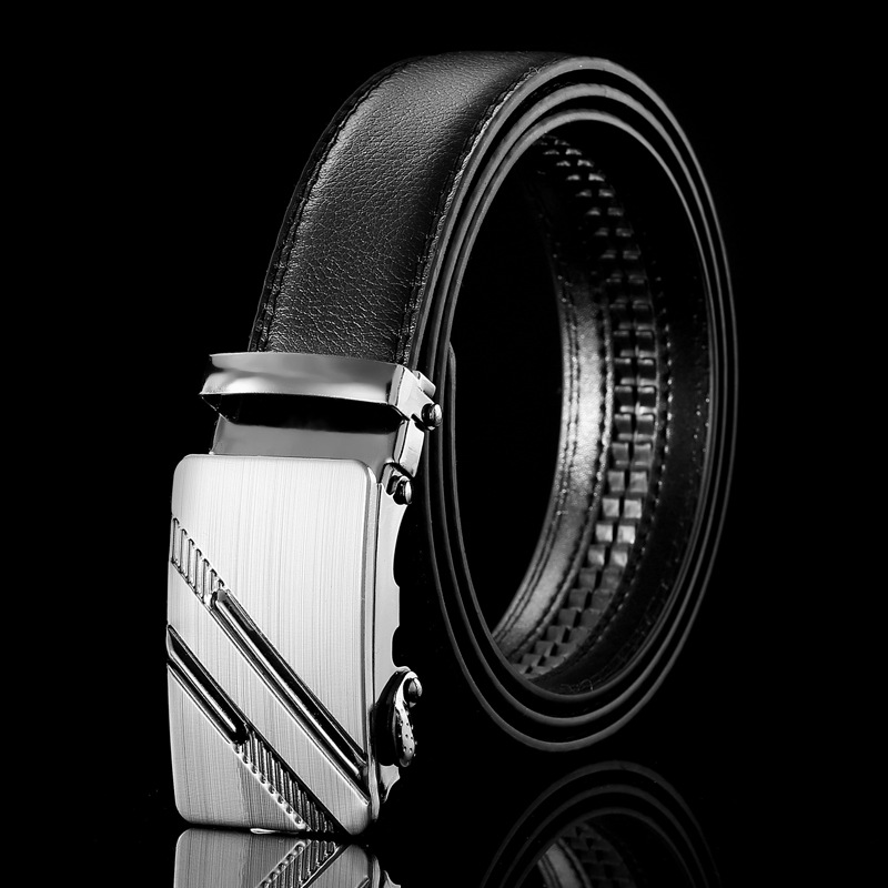 Men's Business Belts Leather Waist Strap Automatic Buckle Male Belt Casual  Belts For Men Girdle Belts For Jeans Top Quality